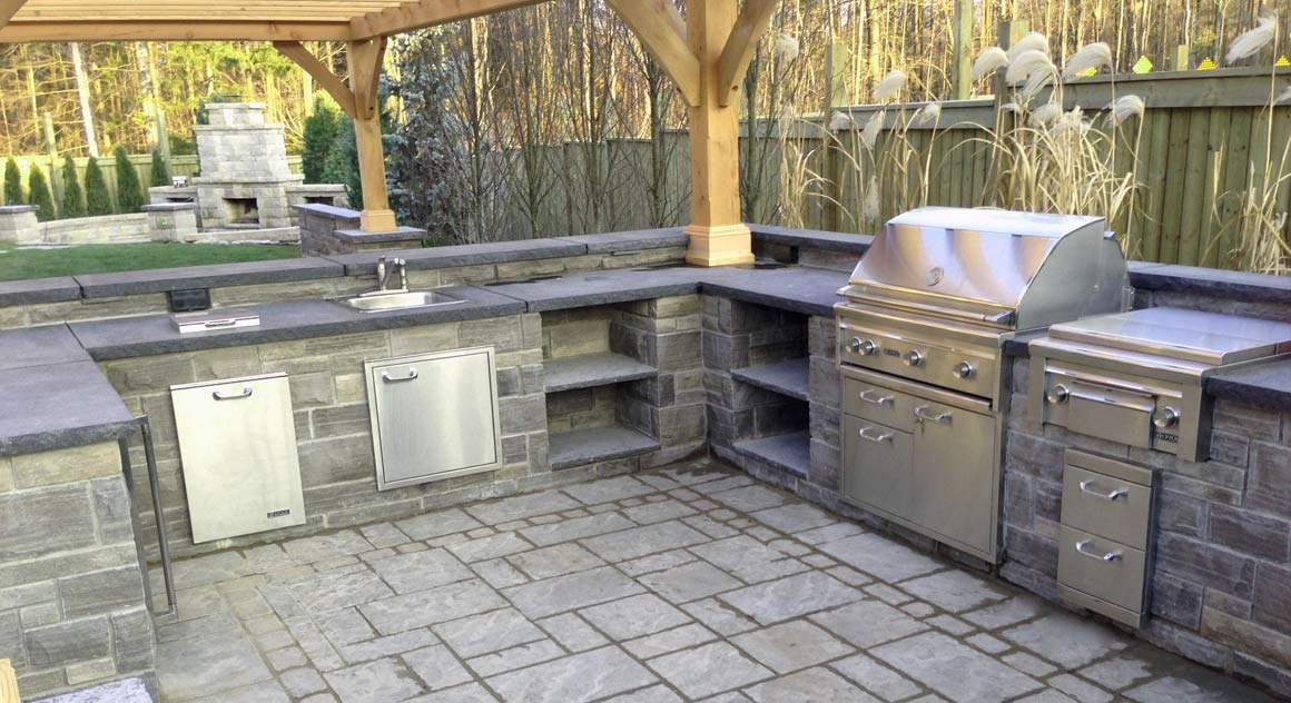 backyard designs with outdoor kitchen