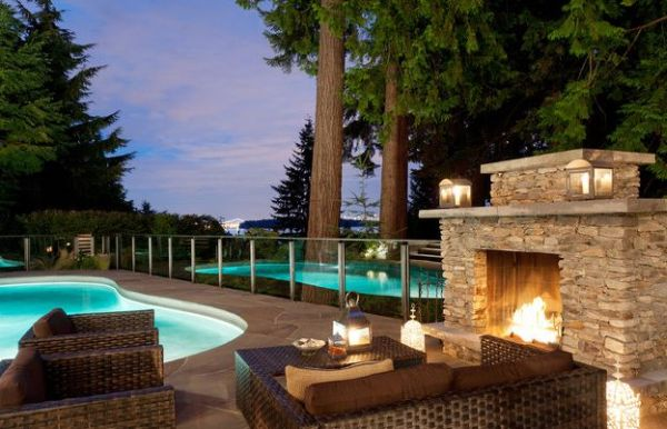 Pools Designs With Fireplaces