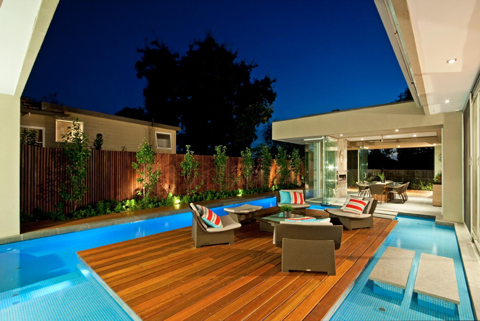 Modernization of swimming pool designs for homes and for Pool decor design