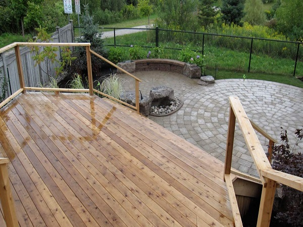 Mixed Materials Outdoor Deck