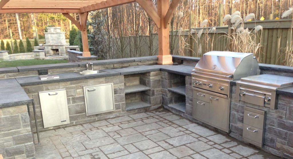 Backyard Landscaping Outdoor Kitchen Tips On A Budget Landcon