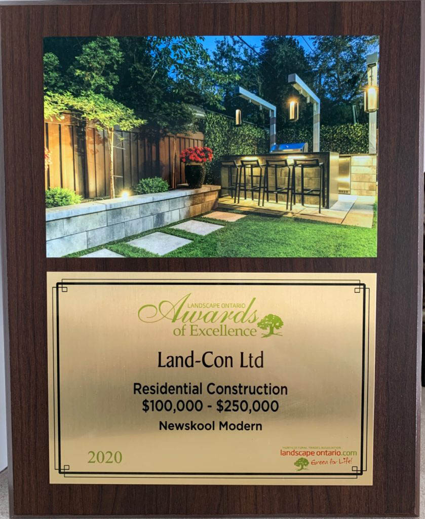 Award of Excellence - Residential Landscape Construction