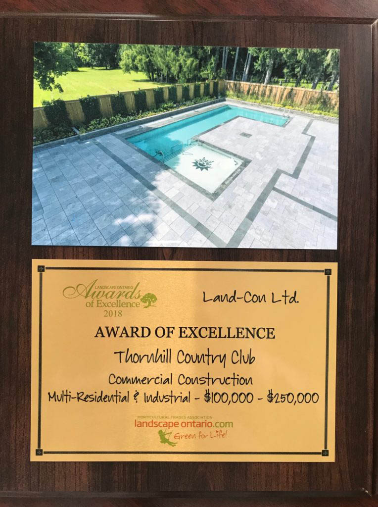 Award of Excellence - Thornhill Country club